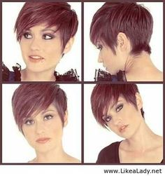 nice Coupe courte pour femme : Short hairstyle for girls with brown hair...