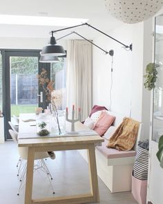 The post Wandbank appeared first on Wohnen ideen. Apartment Makeover, Kitchen Benches, Scandinavian Living, Dinning Table, Dining Bench, Dining Room, Home And Living, Interior Inspiration, Home Kitchens