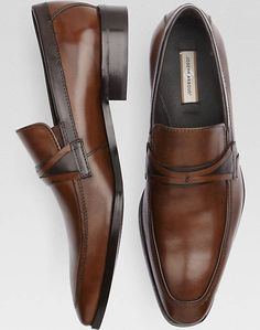 Joseph Abboud Brown Two Tone Loafers