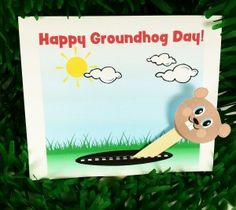 Groundhog Day Pop-Up Puppet