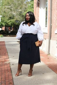 9f608298a96 Plus Size Pencil Skirt Outfit • Plus Size Fashion • Plus Size Skirts for  Fall •