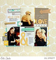 Puppy Love - Scrapbook.com - Layer 3x4 cards with journaling, die cuts, embellishments and more to make them fit your needs on a layout.