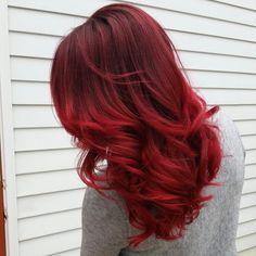 Obsessed. Pravana vivids red and wild orchid Hair by Rachel Fife @ Sara Fraraccio Salon