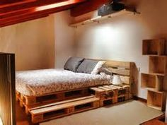 Pallet Bed Frame with Lights and drawers - Bing Images