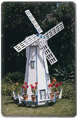 Growing up, we had a beautiful Dutch windmill in the front yard.  Would LOVE to have one again.  They are so peaceful and beautiful.