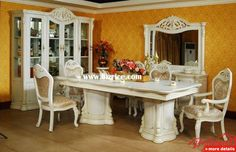 Victorian Style Dining Room Furniture | Antique Solid Wood Dining Room Set  XY93 / China Dining