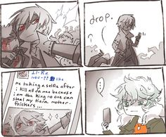 {Togainu no Chi} ~Akira x Shiki~ Comic Strip...For some strange reason I laughed