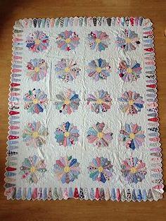 Vintage Dresden Plate Quilt Ice Cream Cone Border Unique Quilting | eBay, orville1066