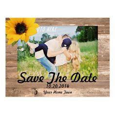 Sunflower Save The Date Postcard