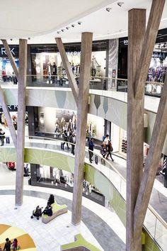 View full picture gallery of Shopping Center Milaneo Atrium Design, Column Design, Facade Design, Shopping Mall Interior, Retail Interior, Shopping Mall Architecture, Mall Design, Retail Design, Facade Architecture
