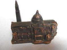 Vintage Shrine of the Immaculate Conseption Miniature Metal Souvenir Building