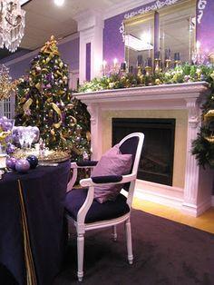 Design Maze: Purple Christmas Decor. Not a big purple fan but this is pretty