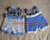 Baby Superman Jeans Overall Buttons at Crotch por CathyrenDesigns