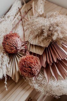All Dried Flowers and Grasses at Afloral Dried Flower Bouquet, Diy Bouquet, Dried Flowers, Paper Flowers, Art Floral, Flor Protea, Wedding Centerpieces, Wedding Decorations, House Decorations
