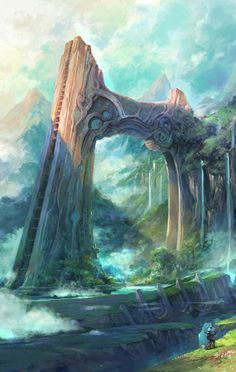 The Waterfall Arch by Artcobain