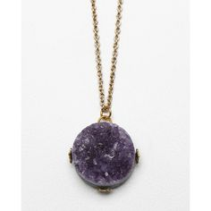 Purple Crystal Necklace ❤ liked on Polyvore