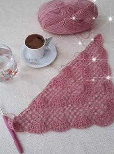 Crochet Stitches Patterns, Hand Embroidery Patterns, Baby Knitting Patterns, Crochet Shawl Diagram, Crochet Motif, Knitted Shawls, Shawl Patterns, Shawl Patterns, Crocheting Patterns