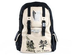 """Attack on Titan"" Faux Leather Backpack/Computer Bag - FREE SHIPPING"