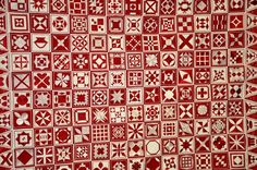 Red and white Dear Jane quilt... by Carol