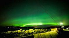 Northern Lights Stjørdal harbor