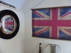 Old UK British Large Vintage Union Jack Flag * Antique Reproduction Bamboo Poles, Wooden Poles, Pimms O Clock, Even The Rain, Blue Wall Decor, Red Flag, Easy Wall, Union Jack, Blue Walls