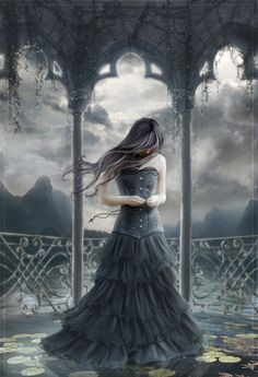 Angel After Dark. Top Gothic Fashion Tips To Keep You In Style. Consistently using good gothic fashion sense can help Dark Beauty, Gothic Beauty, Dark Fantasy Art, Fantasy World, Dark Art, Wallflower Anime, Elfen Fantasy, Gothic Images, Arte Obscura