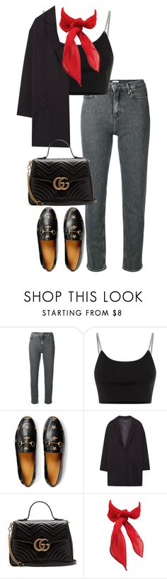 """""""Untitled #5223"""" by theeuropeancloset ❤ liked on Polyvore featuring Calvin Klein, Alexander Wang, Gucci and MANGO"""