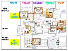 TONS of ideas for Thanksgiving week - ELA and Math -  freebies included!