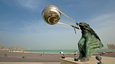 Love this sculpture on the Doha waterfront