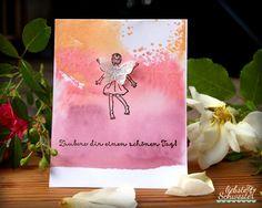 liebste schwester: VIP -Donnerstag - Acrylblock Technik, liebste schwester: VIP -Donnerstag - Acrylblock Technik, Stampin`UP!, einfach Zauberhaft, pfirsisch pur, flamingorot und zarte pflaume