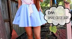 DIY Circle Skirt http://fashioninspirationblog.com/diy-simple-circle-skirt/