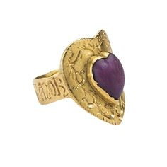 """Gothic Love Ring """"Corte Porta Amor"""", century, Italy, gold and ruby - Ring historisch 2 - Medieval Jewelry, Ancient Jewelry, Gothic Jewelry, Jewelry Art, Antique Jewelry, Vintage Jewelry, Jewelry Design, Jewellery, Nice Jewelry"""
