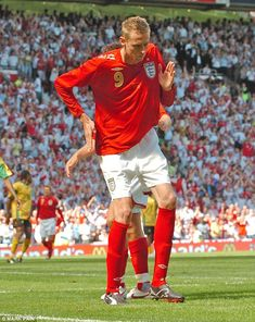 22f16dc982c Crouch does the Robot celebration on his way to a hat-trick against Jamaica  in