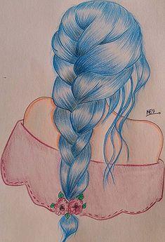 drawings dessin zeichnen girly frisuren zeichnungen haare drawing crayon sketches astuces skizzen maedchen realistische skizze schoene haaren kawaii simple 1btc
