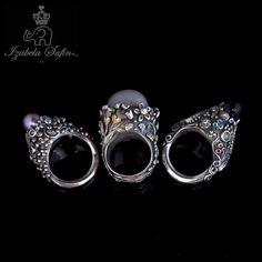 No Ordinary Life Hummingbird Ring with Moonstone, Diamond  from Silver 999. $659.00, via Etsy.