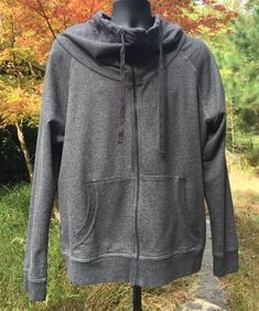1e4fe785 Gap Funnel Neck Full Zip Up Sweatshirt Ladies XL Dark Gray Black Heather  #Gap #. Purple OmbreWarm ...