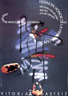 Cartel Fiestas Victoria (Virgen Blanca) 1990