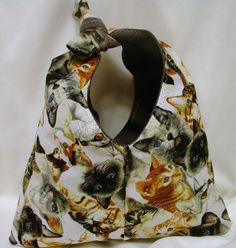 Cats Galore Tie Purse  OOAK by bagsbyhags45 on Etsy, $8.50