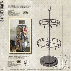 Advantus & Tim - Idea-ology - these new structures include a custom designed clip carousel and ornate metal flip frame giving your creativity new options to showcase your photos and memorabilia.