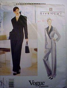 6c178c5d74e Vintage Vogue Paris Original Givenchy Sewing Pattern 1887 1 piece jumpsuit  suit