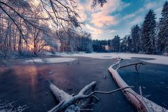 """Wintry Pond - """"Wintry Pond"""" - Augsburger Land - Germany  Winter finally arrived at my home. They become rarely in recent years. Shots of winter with snow and ice. But the more unique they are.  Prints and licensing available.  <a href=""""https://www.facebook.com/StefanHefelePhotography"""">Facebook Fan Site</a>  <a href=""""http://www.stefan-hefele.de/en/news.html"""">www.stefan-hefele.de</a>"""