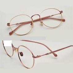 2017 Luz Óptica Óculos de Armação De Metal Mulheres Homens Moda Miopia  Óculos Frames Oculos de grau Femininos Do Vintage Óculos YJ784 Loja Online 13040acd54