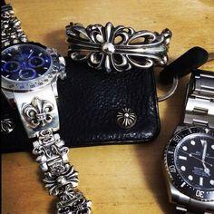 CH Daytona Damaris Goddrie, Biker Accessories, Rock Style Men, Citizen Eco, Chrome Hearts, Rolex, Bracelet Watch, Watches For Men, Jewelery