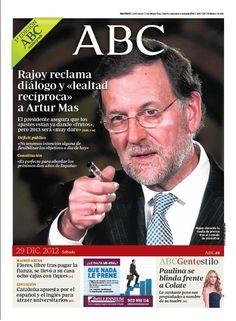 La portada de ABC del 29 de diciembre