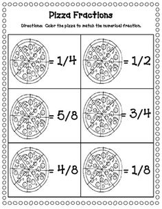 pizza fraction freebie