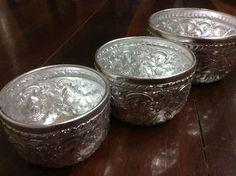 Vintage Aluminium Thai Bowl Water Dipper Gift by OldTimeSiam