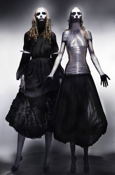 Black: 2015- Images compiled out of never-before-seen pictures shot backstage at the Alexander McQueen 2004 'Black' show.