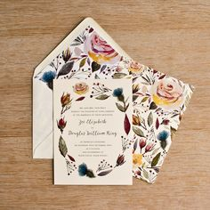 Wild Flower Invitation by Skinny Malink, the perfect gift for Explore more unique gifts in our curated marketplace. Homemade Wedding Invitations, Personalised Wedding Invitations, Flower Invitation, Graphic Illustration, Flower Designs, Wild Flowers, Flower Arrangements, Wedding Flowers, Unique Gifts