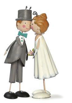 Nueva figura #Boda en Metal de 16cm. #wedding #caketopper #bridal #Hochzeit #mariage  info@jullar.com