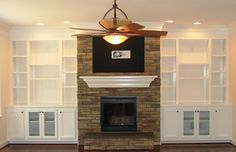 built in bookshelves | FV-74 Fireplace and Bookcase picture